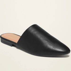 Old Navy Slip On Vegan Mules Size 9 Black